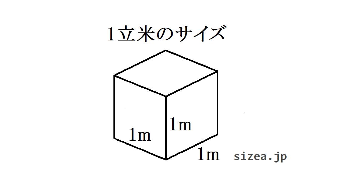 1立米のサイズ