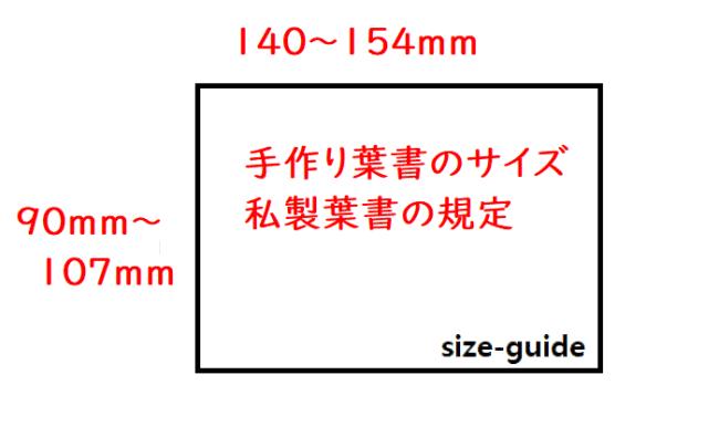 手作り葉書のサイズの規定