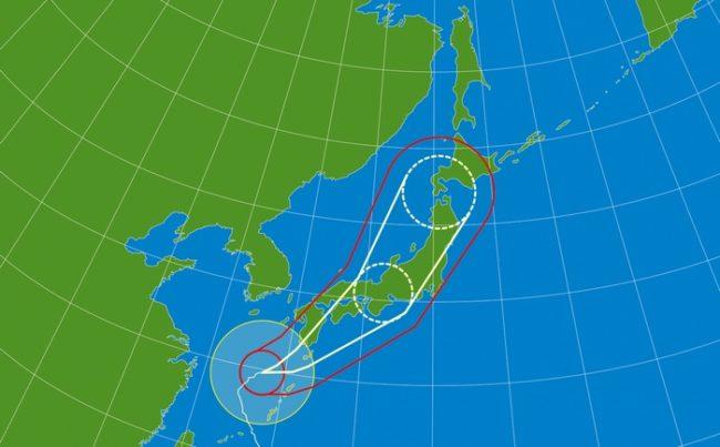 台風の大きさと強さを報道ではどのように表してその基準は何か?
